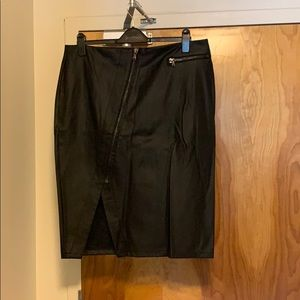 Love & legend black pleather skirt